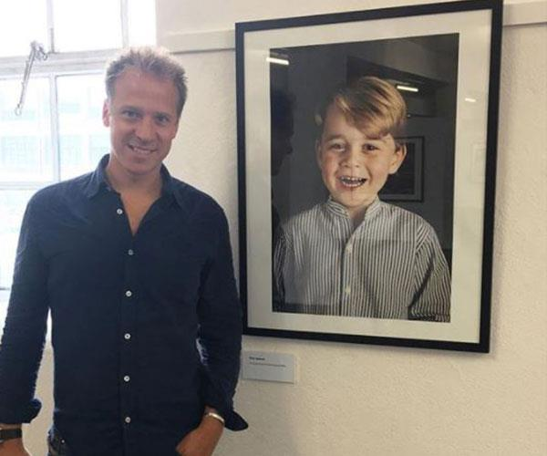 Chris, pictured alongside Prince George's official fourth birthday portrait that he took, advises any budding photographers to get as much experience as possible.
