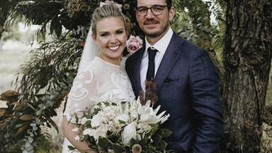 Sunrise's Edwina Bartholomew marries long-term partner Neil Varcoe