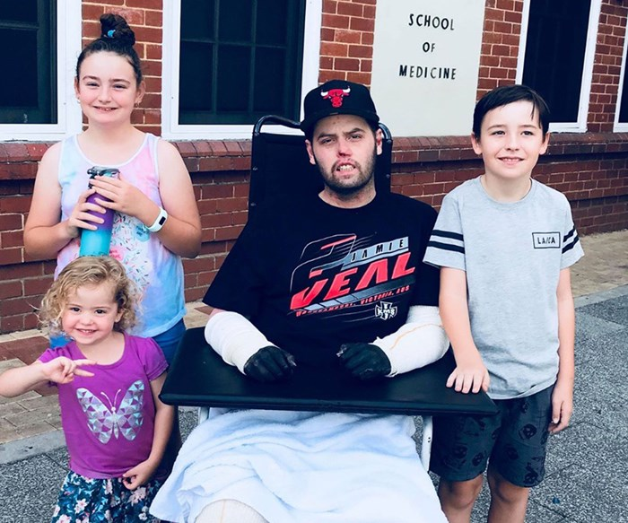 Meningococcal warning: Perth father's message to others after losing hands and legs to meningococcal