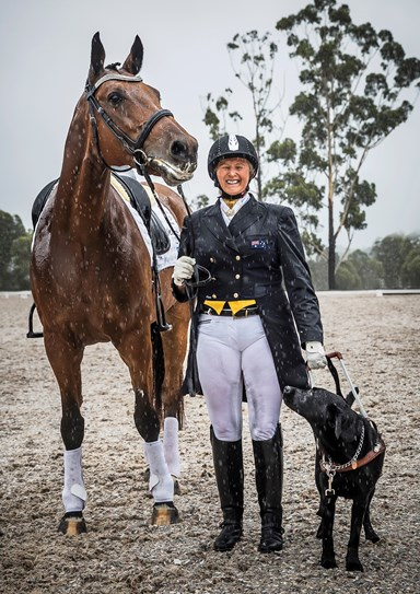 Meet the top-level Aussie horse-rider who is completely blind and try NOT to be impressed