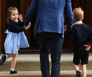 Photos: Prince George and Princess Charlotte meet new royal baby