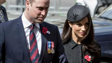 Prince William attends Anzac Day commemorations - and drops a hint about his new baby's name