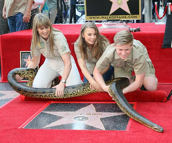 Bindi Irwin delivered an emotional tribute to Steve Irwin when presenting his Star on the Hollywood Walk Of Fame