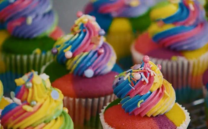 How to make The Australian Women's Weekly Barbie rainbow cupcakes