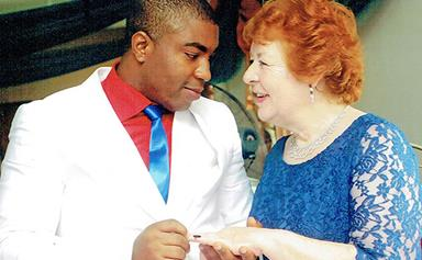 """""""But he's only 25, Mum!"""" 75-year-old Angela has fallen in love, but he's 45 years her junior"""