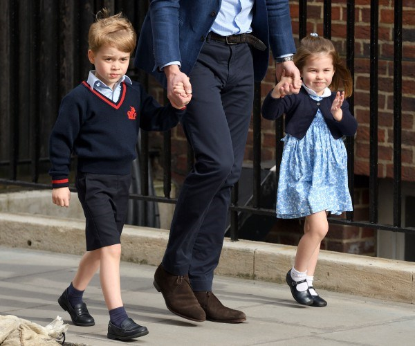 Prince George and Princess Charlotte visiting little brother Louis for the first time.