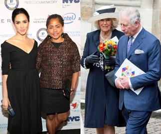 Tea with the in-laws! Meghan Markle's mum Doria Ragland enjoys tea with Prince Charles and Camilla