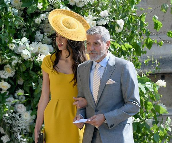Amal's sunshine-yellow gown is all kinds of regal.