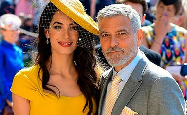 Hollywood King and Queen Amal and George Clooney arrive at the Royal Wedding