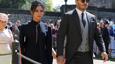 Windsor Castle or Beckingham Palace? Victoria and David Beckham look so posh at the Royal Wedding