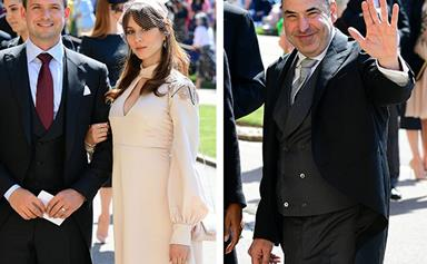 Suits cast are arriving at the royal wedding