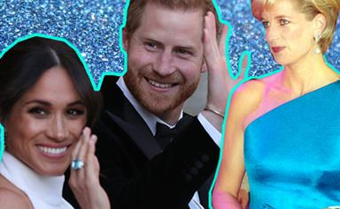 Meghan Markle wears Princess Diana's Aquamarine ring for her second wedding reception with Prince Harry