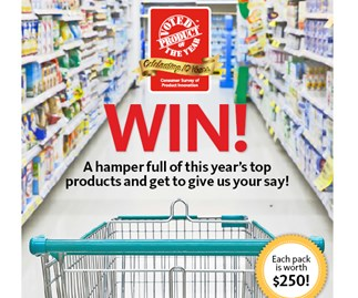 Win! A hamper full of this year's top products valued at $250 and get to give us your say!
