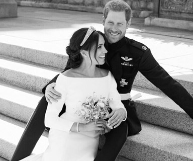 Royal perfection! Prince Harry and Meghan Markle's official wedding portraits were just released