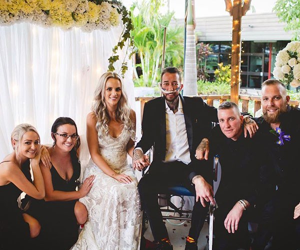 """Aussie bride and terminally ill groom have dream wedding: """"A perfect day with a perfect man"""""""