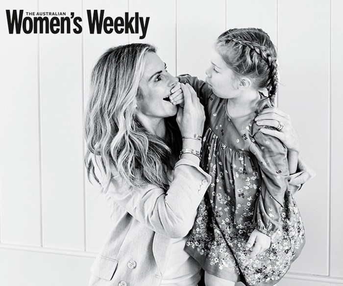 Candice Warner with her daughter Ivy Mae.