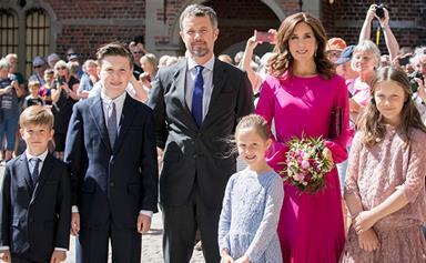Princess Mary and Danish royals unveil Crown Prince Frederik's official portrait