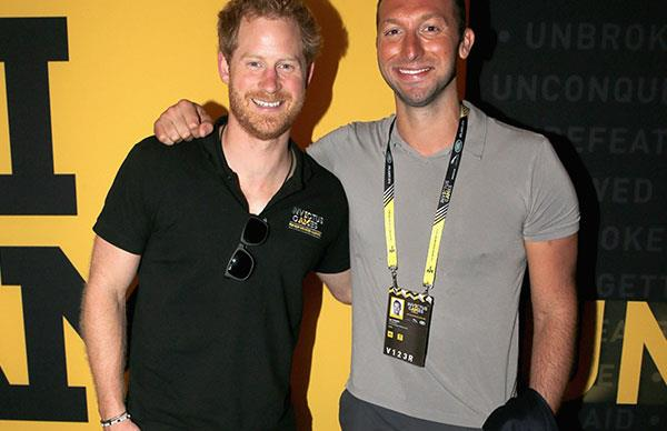 Prince Harry and Ian Thorpe