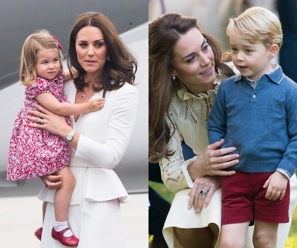 Duchess Kate spends the day at the Houghton Horse Trials with Prince George and Princess Charlotte