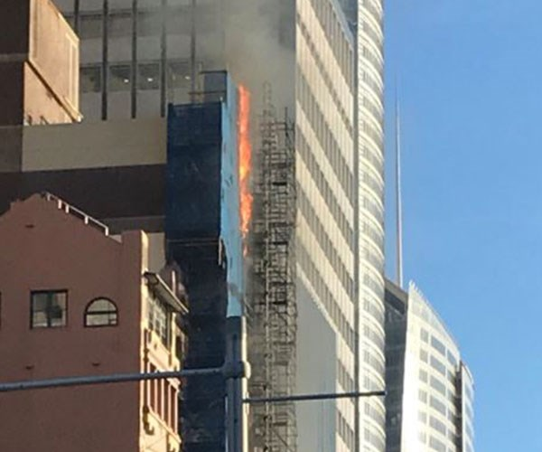 Breaking news: A massive fire has broken out in Sydney's CBD