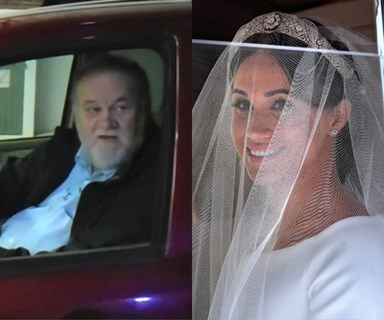 "Meghan Markle's dad watched her wedding alone but was ""so happy"" Prince Charles walked her down the aisle"
