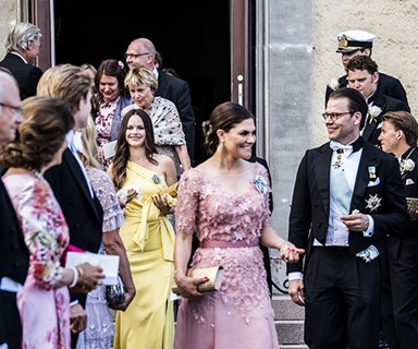 Crown Princess Victoria, Princess Sofia and Princess Madeleine stole the show at a friend's wedding