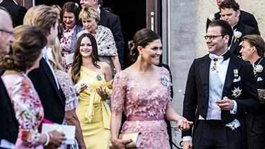 Crown Princess Victoria, Princess Sofia and Princess Madeleine stole the show at a friend's wedding