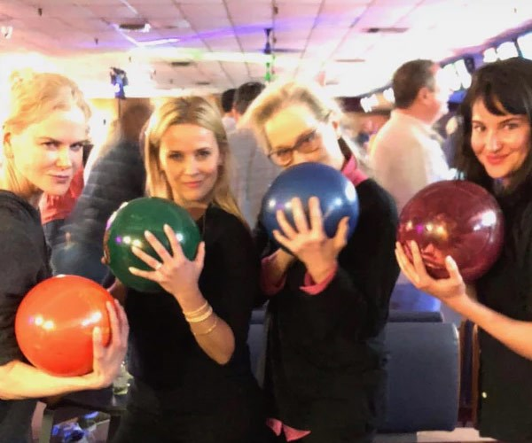 The Big Little Lies cast go bowling: It's a strike with Nicole Kidman, Meryl Streep, Reese Witherspoon and Shailene Woodley