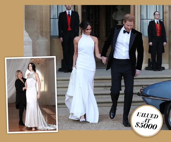 Win a replica of Meghan Markle's reception dress valued at $5000