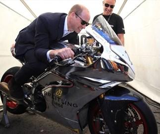Prince William motorbike