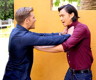 Ramsay Riot: Leo fights for Mishti this week on Neighbours