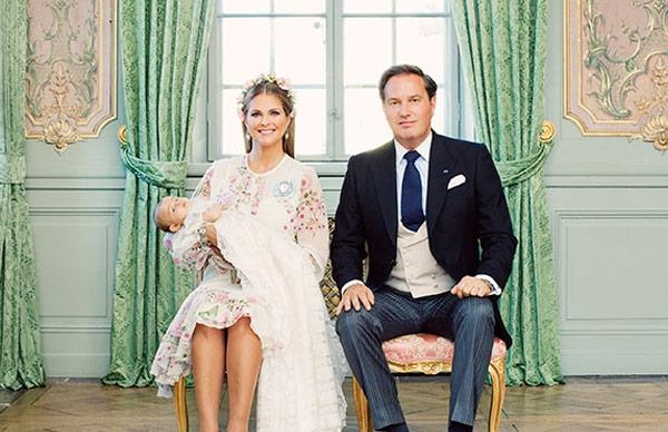 Princess Adrienne of Sweden's christening official photos: A look inside the Palace walls