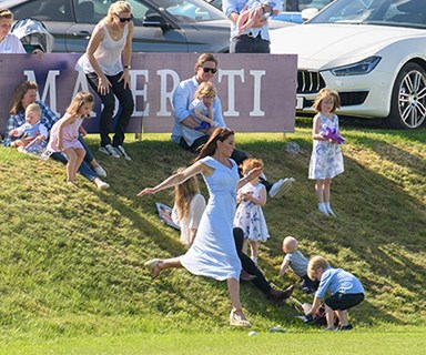 Why Duchess Kate was spotted running at the polo... And it wasn't because of Prince George and Princess Charlotte!
