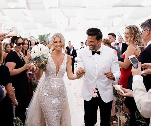 Just two months after their stunning wedding, the former *Bachelor* couple are living apart.
