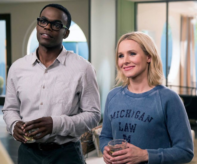 The Good Place creator Mike Schur on THAT season two cliffhanger