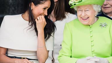 Meghan Markle and The Queen giggle their way through their first official outing together