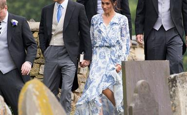 Meghan Markle rewore a piece of her wedding day look to Prince Harry's cousins nuptials
