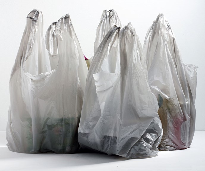 Single-use plastic bags are out.