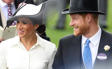 Meghan Markle and Prince Harry join the royal family at Royal Ascot