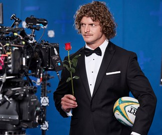 Nick 'Honey Badger' Cummins shoots The Bachelor commercials