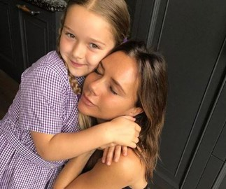 "Girl power! Victoria Beckham is teaching Harper Seven to be a ""strong, smart woman."""