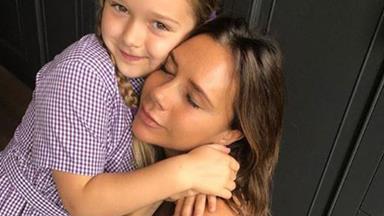"Girl power! Victoria Beckham is teaching Harper Seven to be a ""strong, smart woman."""