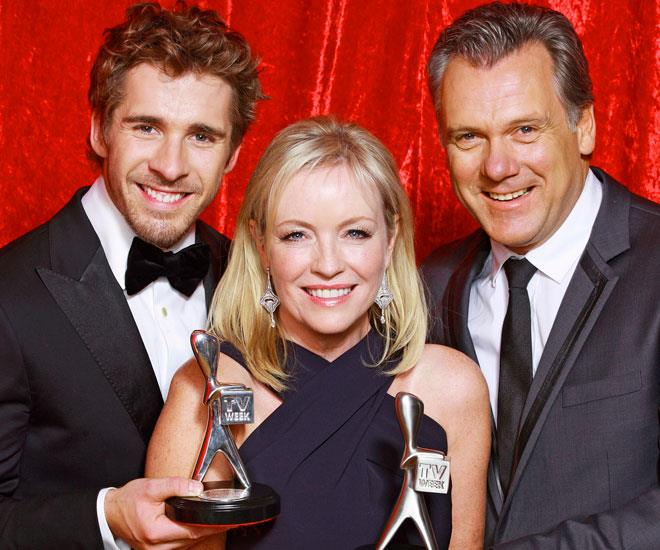 *Packed To The Rafters* stars Hugh Sheridan, Rebecca Gibney and Erik Thomson.