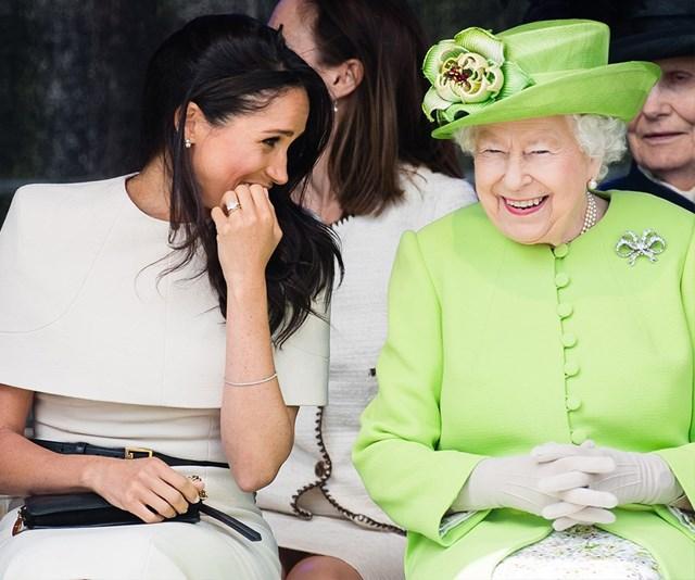 Meghan Markle and the Queen Elizabeth II