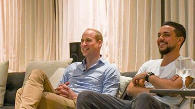 He may be on an official royal tour but Prince William found time to watch England in the world cup!
