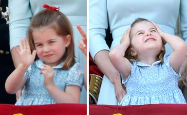 'Bye Granddad!' Watch Princess Charlotte adorably farewell Prince Charles in his helicopter