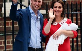 Prince William, Duchess Catherine and Prince Louis
