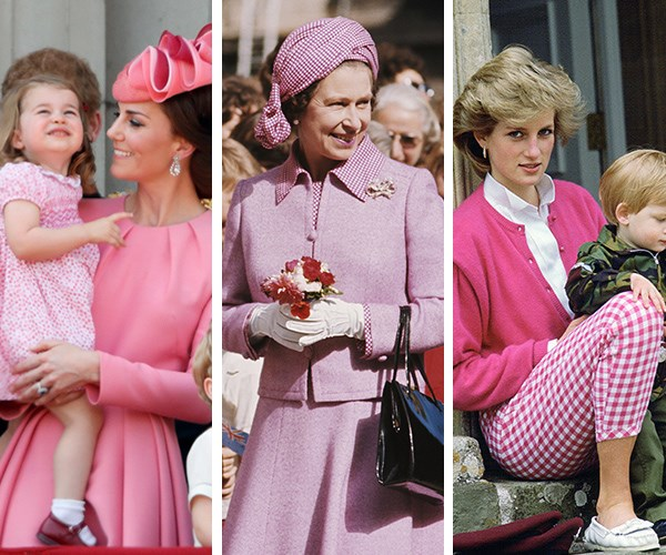 Pretty in pink: Royals give the palette their stamp of approval