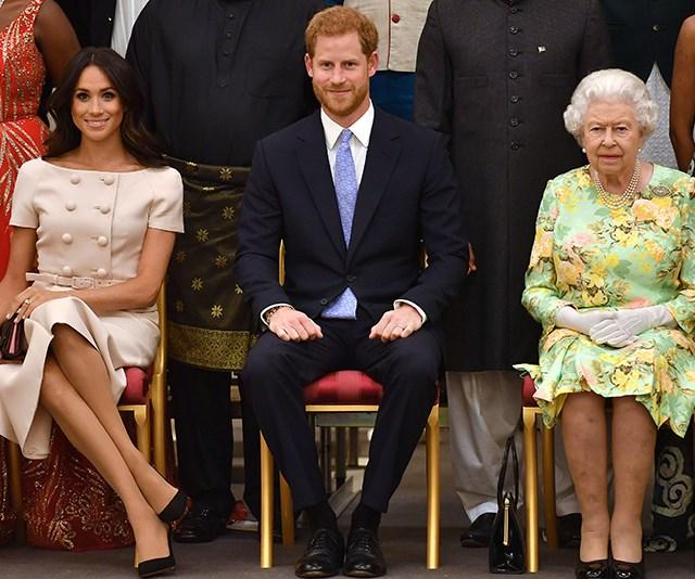 Queen, Meghan, Harry