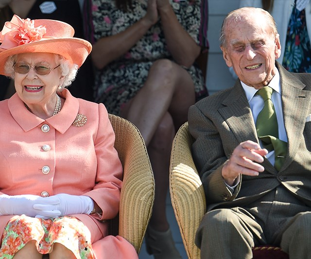 Prince Philip out and about, mingling with celebs and smiling wider than ever at the Polo